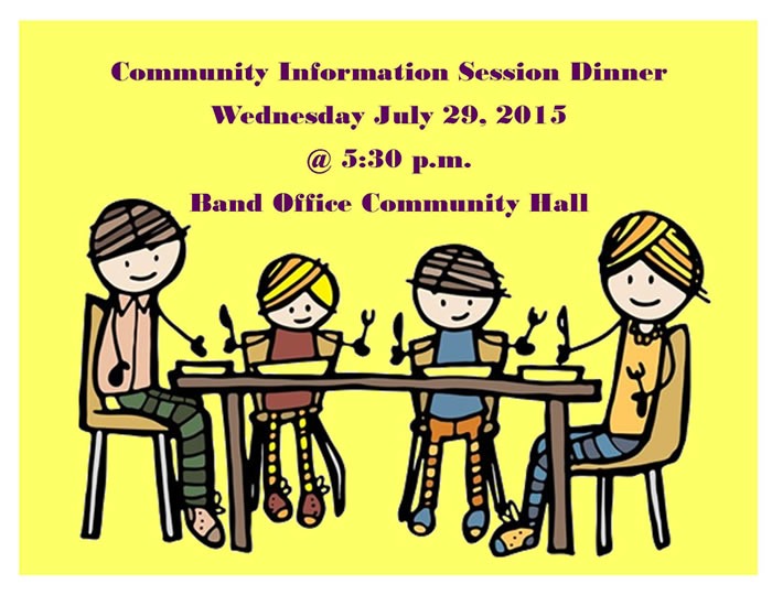 Chapleau Cree Community Information Session Dinner