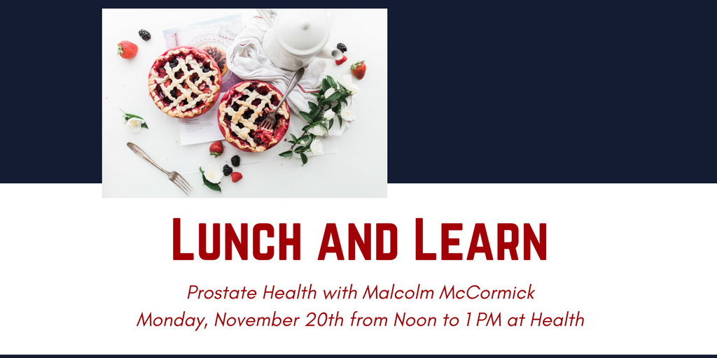Lunch and Learn with Malcolm McCormick @ Health Centre