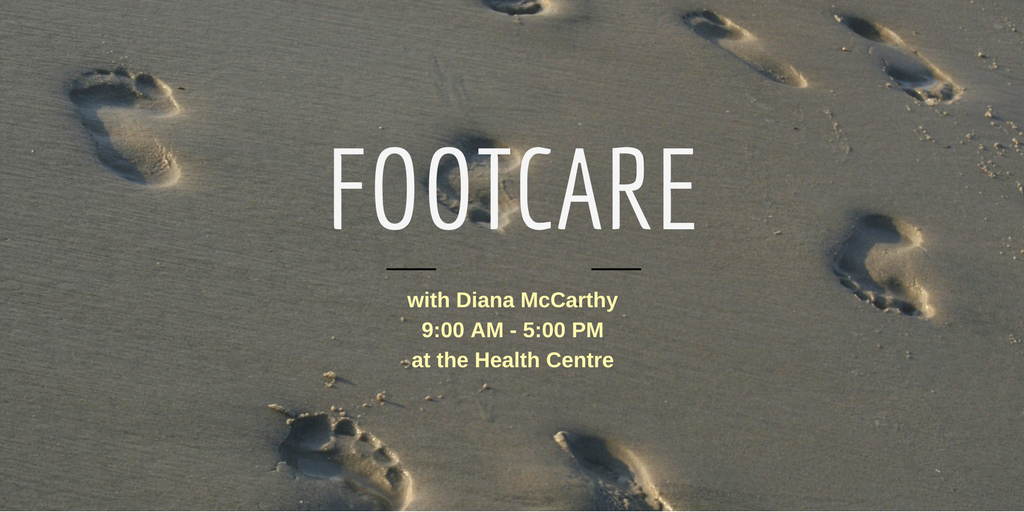Footcare with Diana McCarthy @ Health Centre